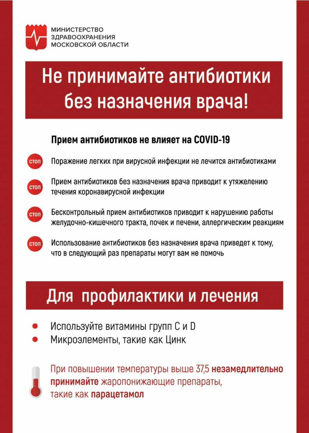 Новости Рузского городского округа   Ружан предупреждают: не принимайте  антибиотики без назначения врача!